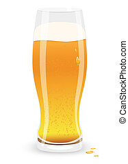 Lager beer Vector illustration - Icon of Lager beer Vector...