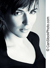Beautiful face - Closeup portrait of a beautiful young woman...