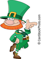 funny Leprechaun - illustration of a funny Leprechaun