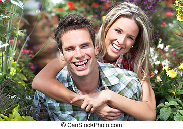 Love couple - Young  happy smiling couple in love