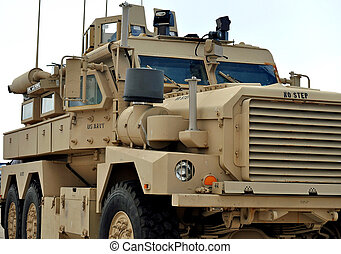 A US Navy MRAP Vehicle - A US Navy Mine Resistant Ambush...