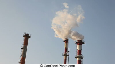 Industrial chimney and air pollution