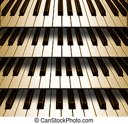 Background music piano keyboard - Background music sepia...