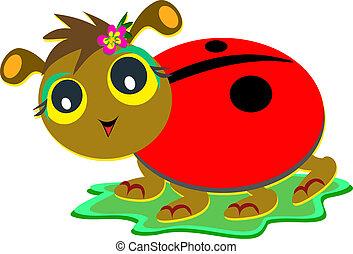 Ladybug with Flip Flop Sandals
