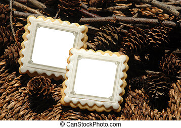 Cookie frame picture - Cookies with form of frame of photo