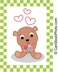 celebration card with a cute little bear