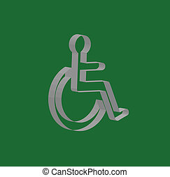 handicapped 3D sign
