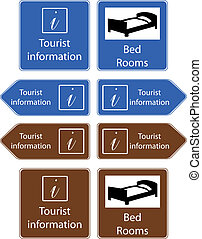 tourist info signs