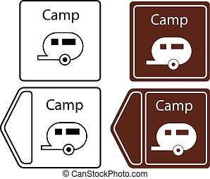 camping trailer info tuorist sign