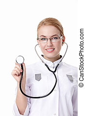 Nurse with a stethoscope