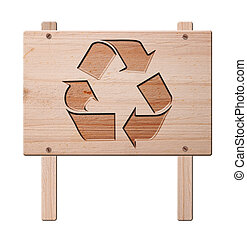 Recycle sign  isolated, clipping path.