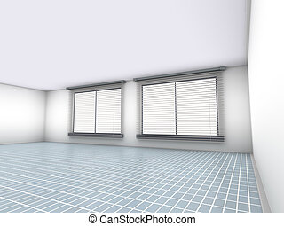 Empty Office		 - 3D rendered Illustration.