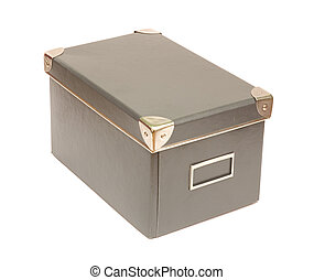 old-fashioned box - isolated old-fashioned box