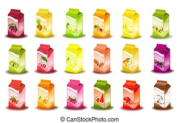 milky products with fruit - design of bottle milky products...