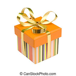giftbox with golden ribbon