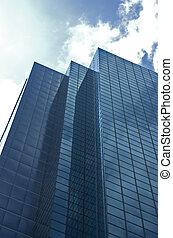 corporate building - blue corporate building