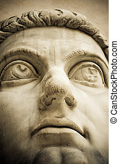 head of ancient statue