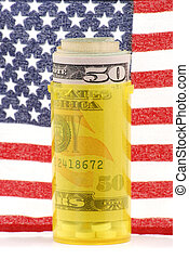 Healthcare Price - concept high priced healthcare in America