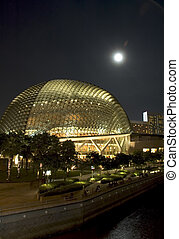 singapore opera at night