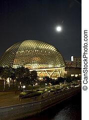 singapore opera at night