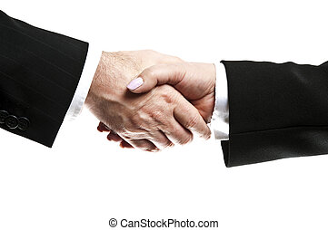 Shake hands - Business people shake their hands