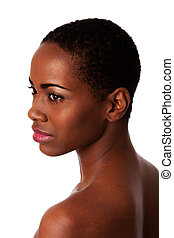 Beautiful face of African woman with good skin - Face of a...