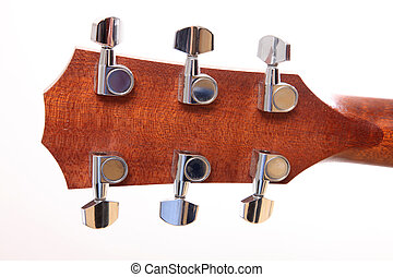 Back headstock - Back of the headstock of the guitar over...