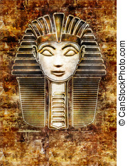 Pharaoh Sphinx Head - Hatshepsut - Stylized woman Pharaoh...