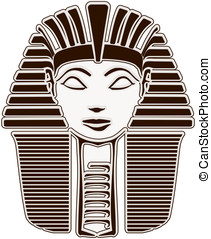 Sphinx Head - Hatshepsut - Stylized woman Pharaoh Hatshepsut...