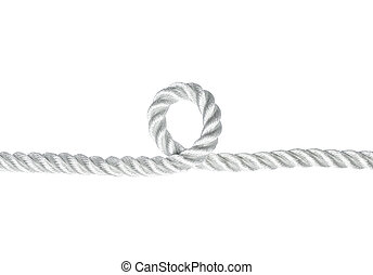 the loophole - Nylon rope with a loophole isolated on white