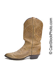 Cowboy Boot - Old cowboy boot isolated on a white background