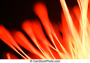 Abstract shot of out of focus part of flower - looks like flames