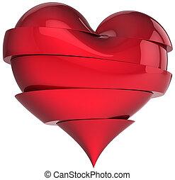 Broken heart symbol - Beautiful broken heart. Slices of...