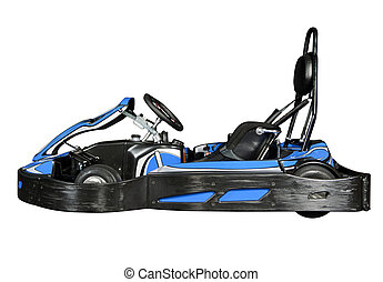 Isolated Go-Kart - Modern go-kart, isolated on white