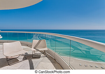 Ocean View Balcony - Big terrace with ocean view in beach in...