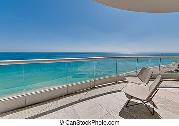 Ocean View - Big terrace with ocean view in beach in Miami.