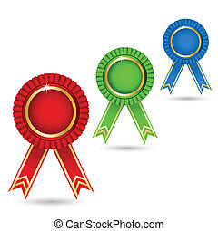 Ribbon Badge - illustration of ribbon badge on isolated...
