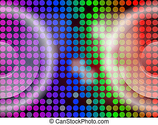 Bright Lites - With Speakers - Vector Background - 2...