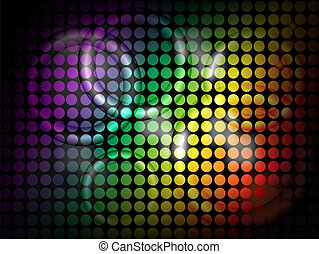 Bright Lites - Vector Background - Neon Rings with bright...