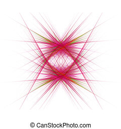 Red fractal design
