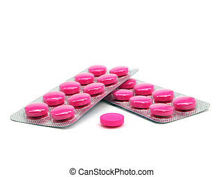 pharmaceutical pills on a white background