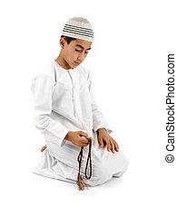islamic, rezar, explicação, cheio, serie,...