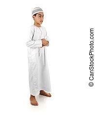 islamique, prier, explication, entiers, serie, arabe,...