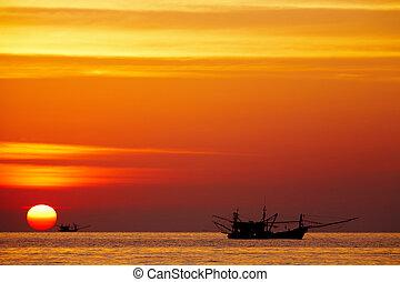 Golden sunset, Chang island, Thailand