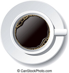 cup of coffee - vector cup of coffee on the white background