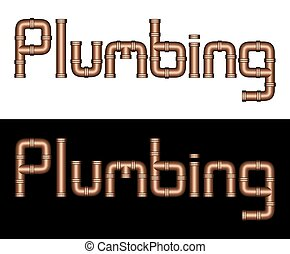 PLUMBING Copper Steel Pipes - This illustration features the...