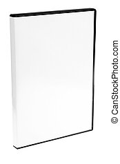 blank case DVD CD white background