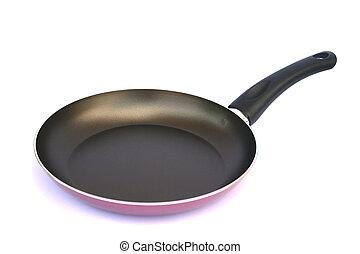 Pan on white