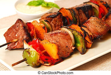 Shish Kabobs - Freshly grilled shish kabobs with a...