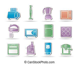 Kitchen and home equipment objects